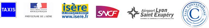 Logos  SNCF et Isère